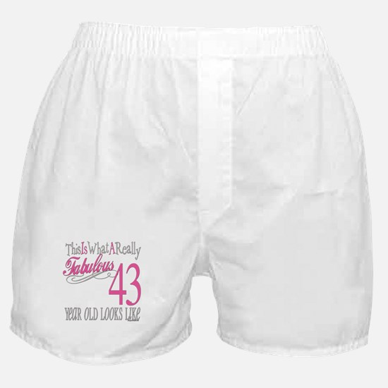 43rd Birthday Gifts Boxer Shorts