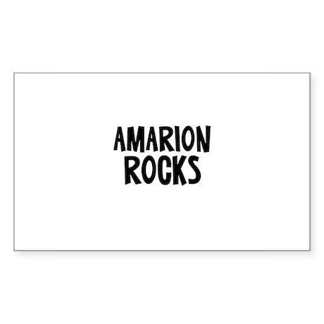 Amarion Rocks Rectangle Sticker