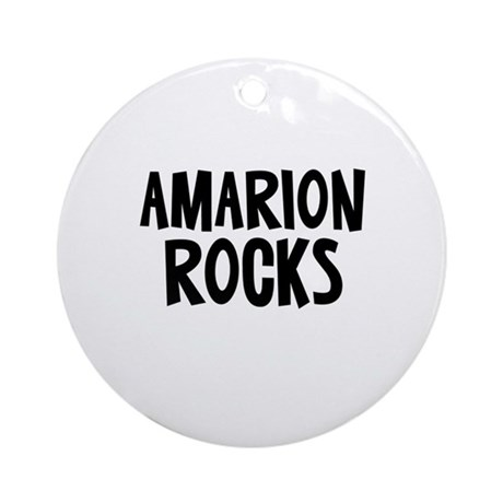 Amarion Rocks Ornament (Round)