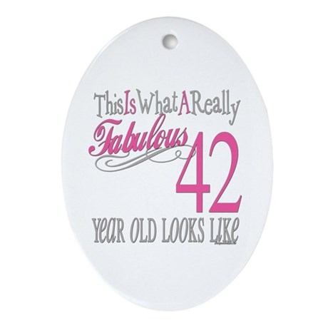42nd Birthday Gifts Oval Ornament