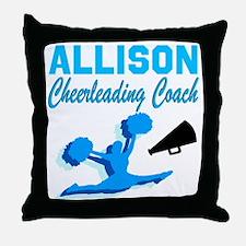 CHEERING COACH Throw Pillow