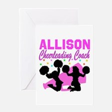 CHEERING COACH Greeting Card