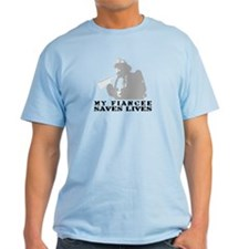 Firefighter Fiancee Saves Lives  T-Shirt