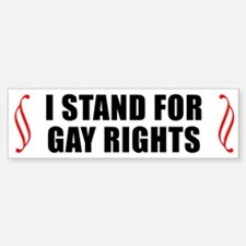GAY RIGHTS Bumper Bumper Bumper Sticker