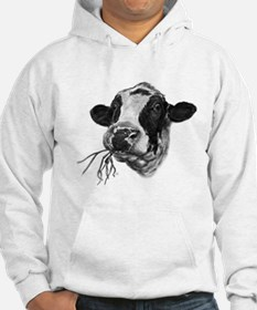 Happy Holstein Friesian Dairy Cow Jumper Hoody