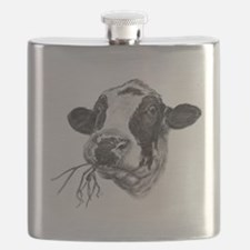 Happy Holstein Friesian Dairy Cow Flask