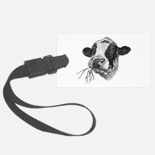 Happy Holstein Friesian Dairy Cow Luggage Tag