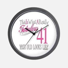 41st Birthday Gifts Wall Clock