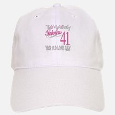 41st Birthday Gifts Baseball Baseball Cap