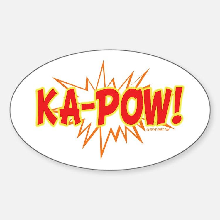 Ka-Pow Oval Decal