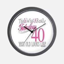 40th Birthday Gifts Wall Clock