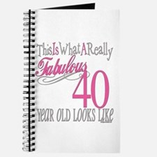 40th Birthday Gifts Journal