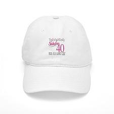 40th Birthday Gifts Baseball Cap