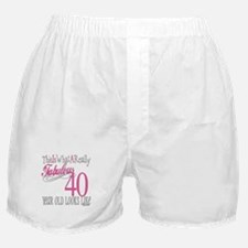 40th Birthday Gifts Boxer Shorts