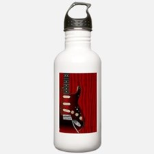 Quality Wood Guitar Water Bottle