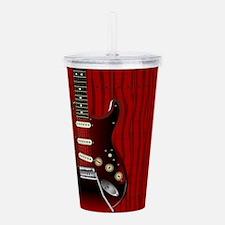 Quality Wood Guitar Acrylic Double-wall Tumbler