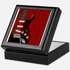 Quality Wood Guitar Keepsake Box