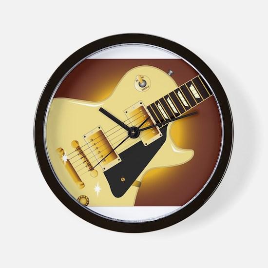 Guitar Close Up Wall Clock