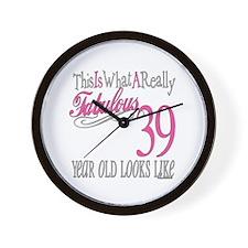 39th Birthday Gifts Wall Clock
