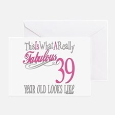 39th Birthday Gifts Greeting Card
