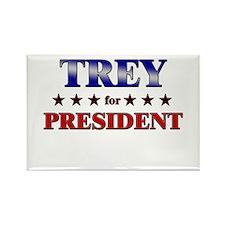 TREY for president Rectangle Magnet