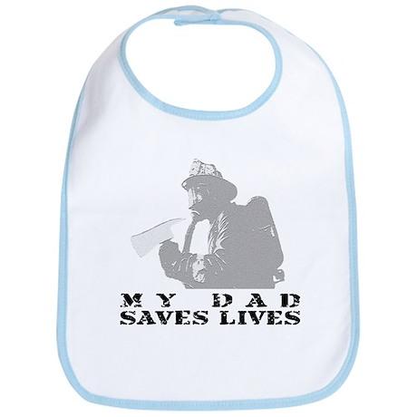Firefighter Dad Saves Lives Bib