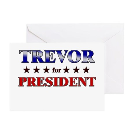 TREVOR for president Greeting Cards (Pk of 20)
