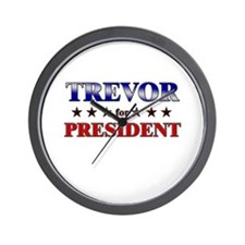 TREVOR for president Wall Clock
