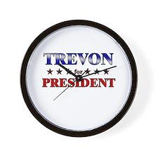 TREVON for president Wall Clock