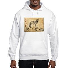 Coyote Drawing Hoodie