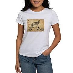 Coyote Drawing Women's T-Shirt