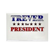 TREVER for president Rectangle Magnet (10 pack)