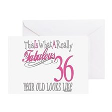 36th Birthday Gifts Greeting Card
