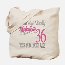 36th Birthday Gifts Tote Bag