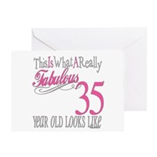 35th Birthday Gifts Greeting Card