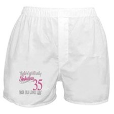 35th Birthday Gifts Boxer Shorts