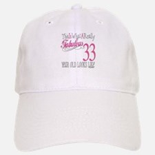 33rd Birthday Gifts Baseball Baseball Cap
