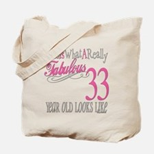 33rd Birthday Gifts Tote Bag
