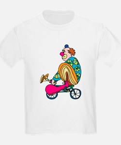 Clown riding a small bicycle T-Shirt