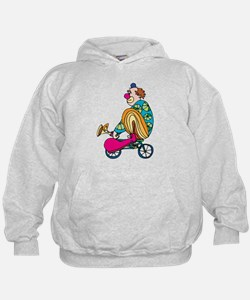 Clown riding a small bicycle Hoodie