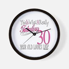 30th Birthday Gifts Wall Clock