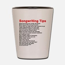 Songwriting Tips Shot Glass