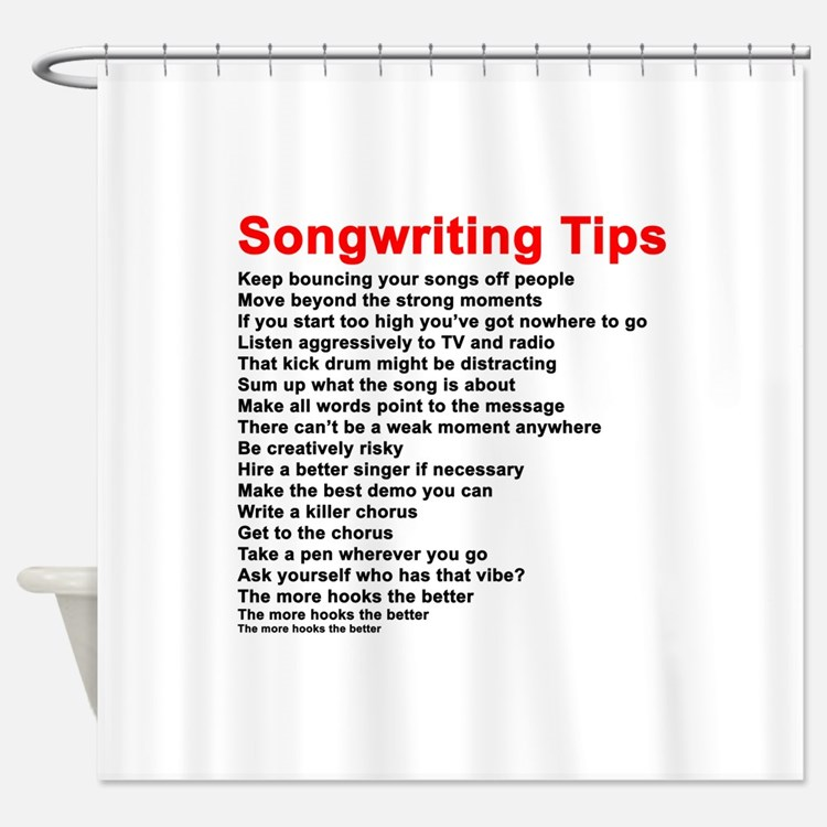 Songwriter Shower Curtains Songwriter Fabric Shower Curtain Liner