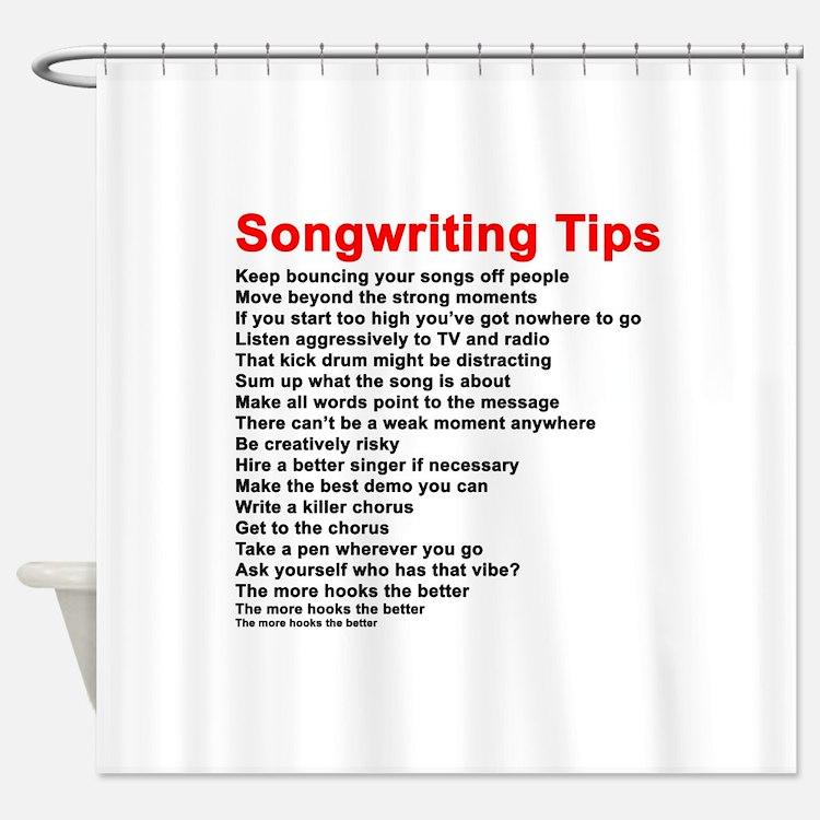 Songwriter Shower Curtains