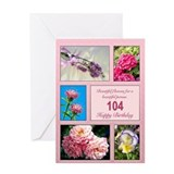 104 birthday Greeting Cards
