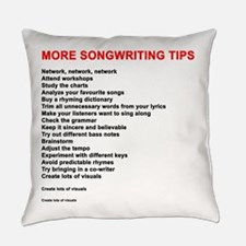 More Songwriting Tips Everyday Pillow