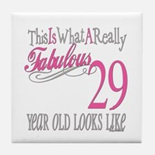 29th Birthday Gifts Tile Coaster