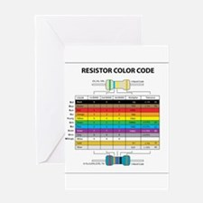 Resistor Color Greeting Cards