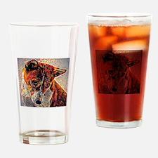 Basenji: A Portrait in Oil Drinking Glass