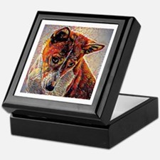 Basenji: A Portrait in Oil Keepsake Box